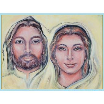 Poster - Jezus en Maria Magdalena (A3 horizontaal)