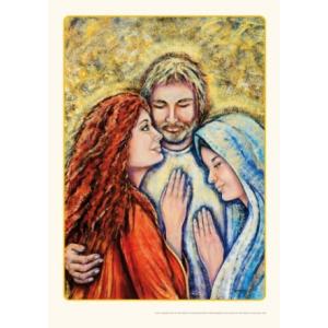 Poster - Drie-eenheid Maria Magdalena, Jezus en Maria (A3 verticaal)