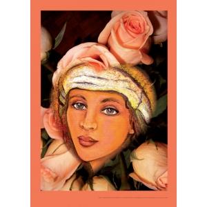 Poster - Maria Magdalena 'en rose' (A3 verticaal)